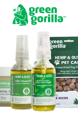 Green Gorilla - Organic Pure CBD Oil For Dogs & Pets 150mg