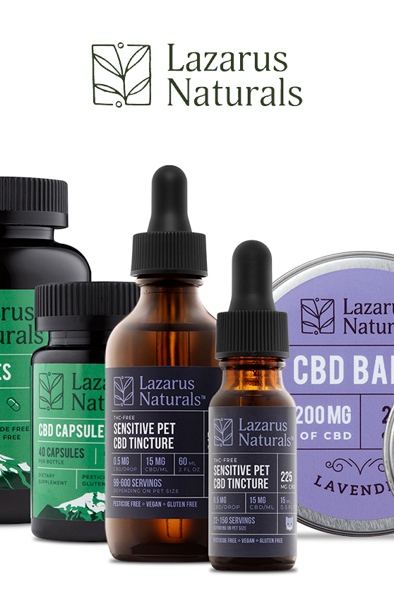Lazarus Naturals - Wild Salmon Flavored Calming Pet CBD Oil Tincture