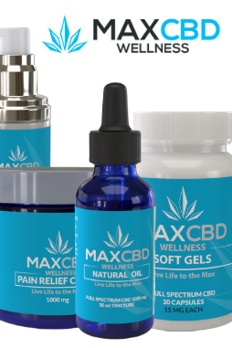 MAXCBD Wellness - Max Relief 1000mg Full Spectrum CBD Oil
