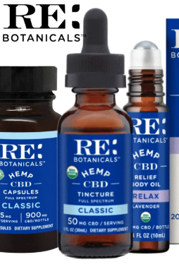 RE Botanicals - Hemp 50mg Classic Tincture – 100ml