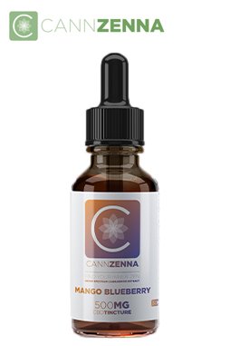 undefined - Cannzenna : CBD Tincture Mango Blueberry 500mg