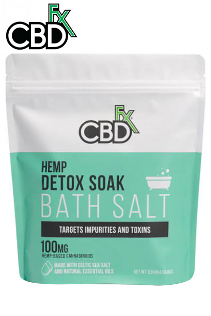 CBDfx - CBD Bath Salt – Detox 100mg