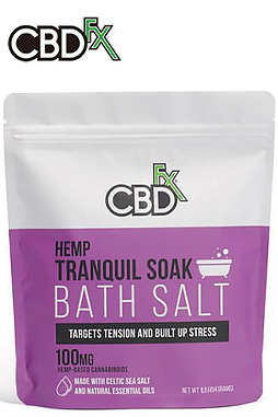 CBDfx - CBD Bath Salt – Tranquil 100mg