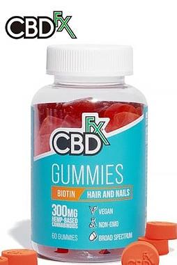 CBDfx - CBD Gummies with Biotin for Hair & Nails 300mg