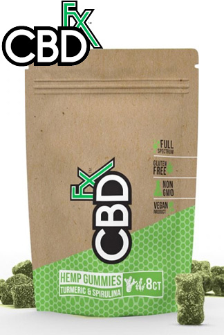 CBDfx - CBD Gummies with Turmeric & Spirulina 40mg