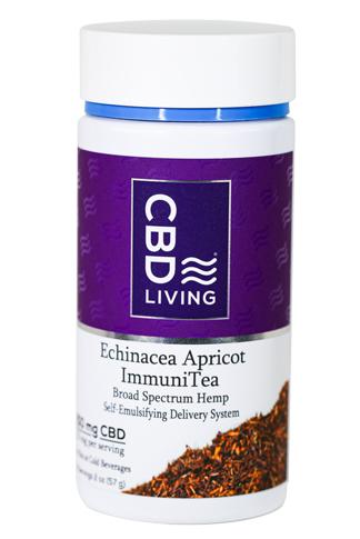 CBD Living Echinacea Apricot Immunity Tea 250 mg