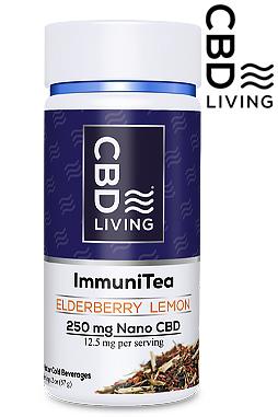 CBD Living Elderberry Lemon Immunity Tea 250 mg