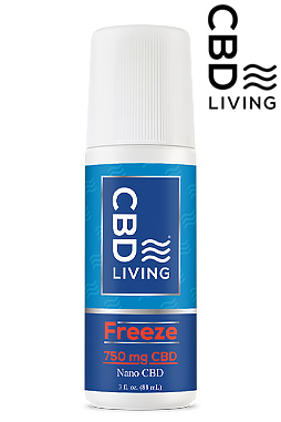 CBD Roll On - CBD Living Freeze - 750mg