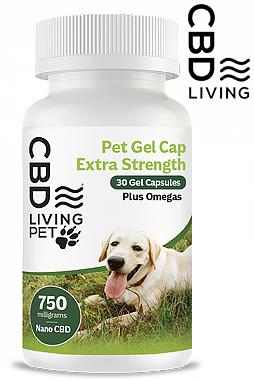 CBD Living Pet Capsules Extra Strength 25 MG 30 Count