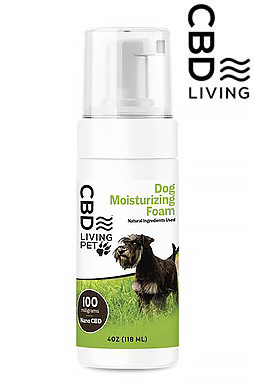CBD Living Dog Moisturizing Foam 100mg