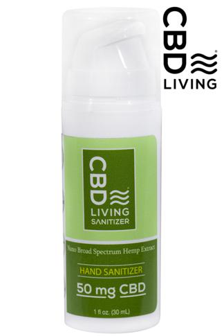 CBD Living 50mg CBD Hand Sanitizer
