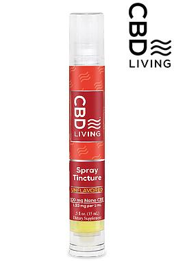 CBD Living Travel Spray Tincture 100mg CBD Oil