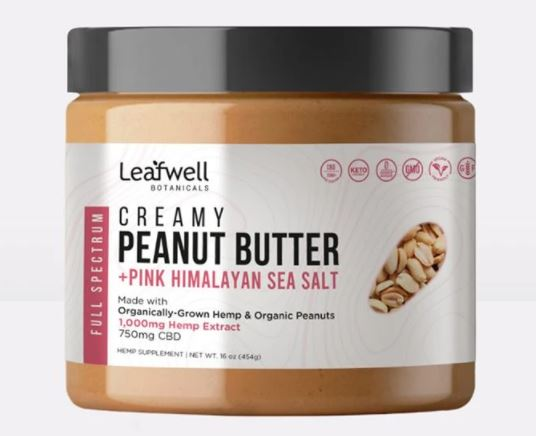 Leafwell Botanicals - Creamy Peanut Butter: 750mg CBD / jar