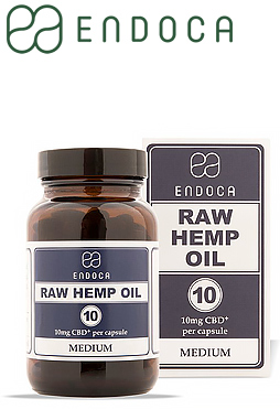 10mg Raw CBD Capsules (Medium)