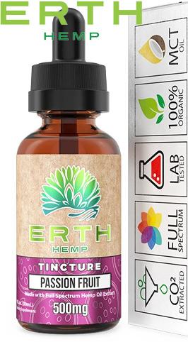 True Full Spectrum CBD Oil Extract Tincture - Passion Fruit 500 mg