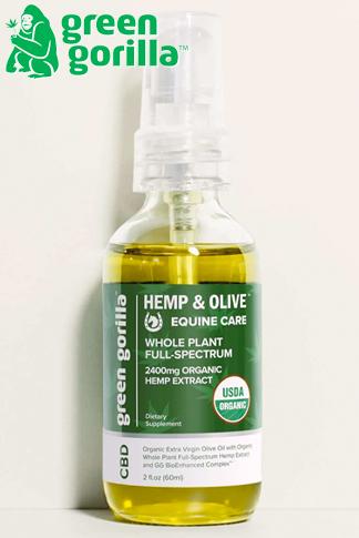 Green Gorilla - USDA Certified Organic Full Spectrum CBD Oil For Horses 2400mg