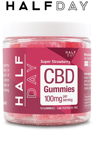 undefined - CBD Gummies – Super Strawberry – 10 count (100 mg/gummy)