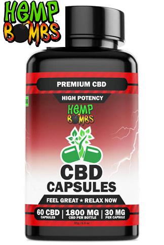 Hemp Bombs - High Potency CBD Capsules 60-Count