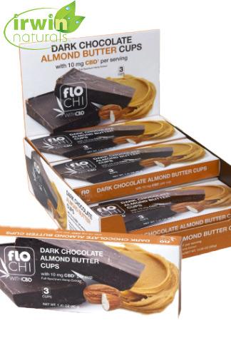 CBD Dark Chocolate Almond Butter Cups | 9-Pack | 10mg CBD