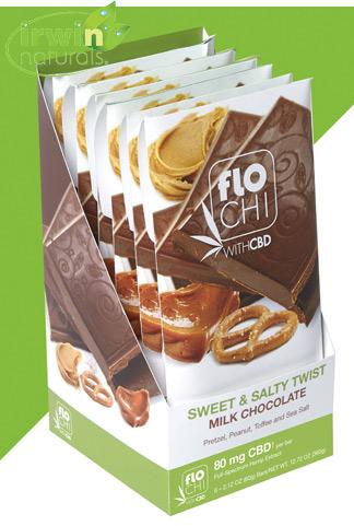 CBD Chocolate Bar | 6-Pack Sweet & Salty Twist | 80mg CBD