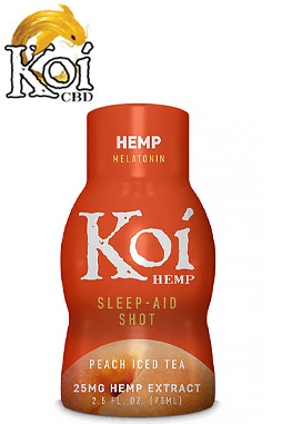 Koi CBD - Koi CBD - CBD Drink Shot - Peach Iced Tea - 25mg- 12-pack