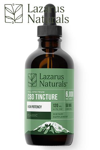 Lazarus Naturals - Classic High Potency CBD Tincture 6000mg
