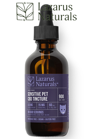 Lazarus Naturals - Sensitive Pet CBD Oil Tincture
