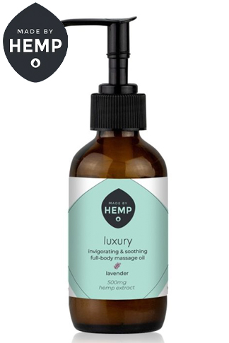 Made By Hemp – Luxury CBD Massage Oil 3.4oz (500mg CBD)