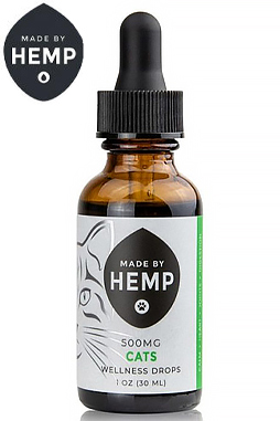 Made By Hemp – CBD Oil for Cats 1oz (200 & 500mg CBD)