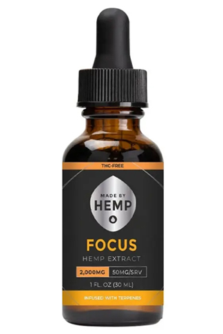 Made By Hemp – Thc-Free CBD Oil Focus 2000mg