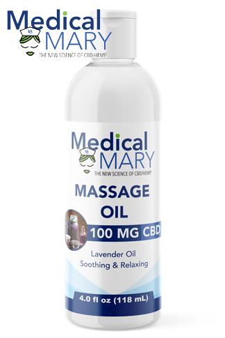 Massage Oil 100mg 4 oz
