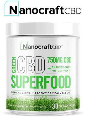 Nanocraft CBD - CBD Superfood Green Powder