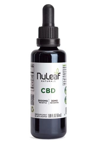 Nuleaf Naturals - Full Spectrum Hemp CBD Oil 3000mg