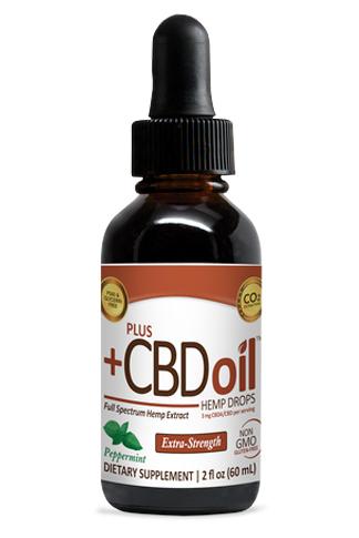 PlusCBD™ Oil Drops – 2oz 500mg Peppermint Raw Formula