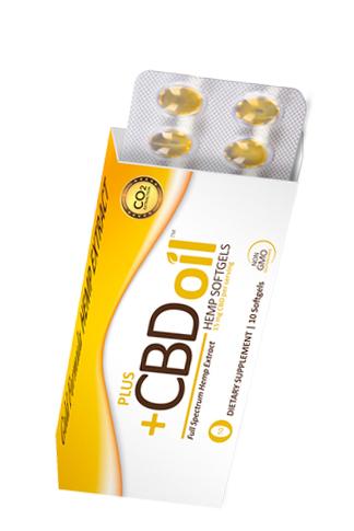 PlusCBD Oil - CBD Oil Softgels 15mg Gold Formula