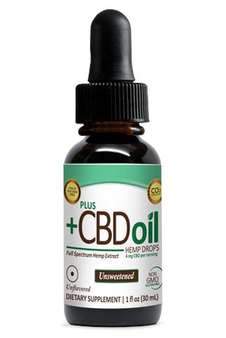 PlusCBD™ Oil Drops – 1oz 300mg Unsweetened Total Plant Complex