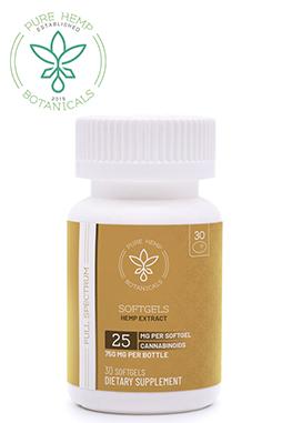Pure Hemp Botanicals - 750mg Pure Hemp CBD Oil Softgels