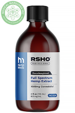 Real Scientific Hemp Oil - Blue Label CBD Hemp Oil Liquid (1000mg CBD) 4 oz