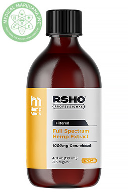 Real Scientific Hemp Oil - Gold Label CBD Hemp Oil Liquid (1000mg CBD) 4 oz