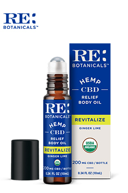 RE Botanicals - Relief Body Oil – Ginger Lime