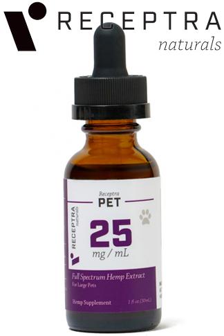 Receptra Pet Tincture 25mgdose (1Oz)