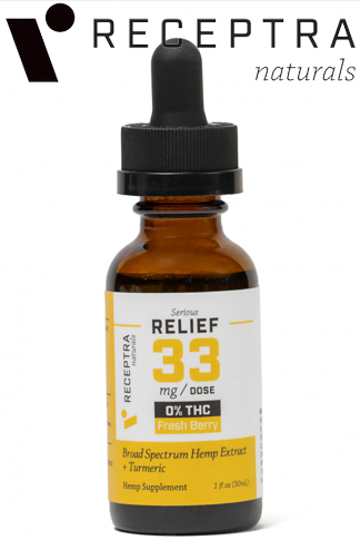 undefined - Serious Relief + Turmeric 0% Thc Tincture 33mg/Dose (1oz.)