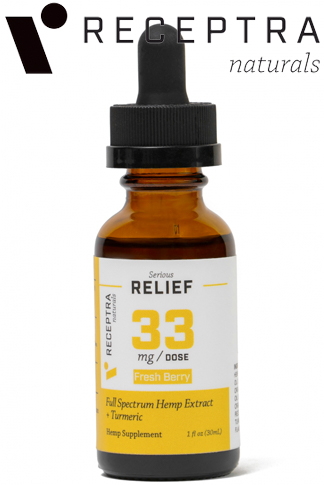 undefined - Serious Relief + Turmeric Tincture 33mgdose (1oz)