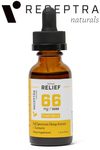 undefined - Serious Relief + Turmeric Tincture 66mgdose (1oz)