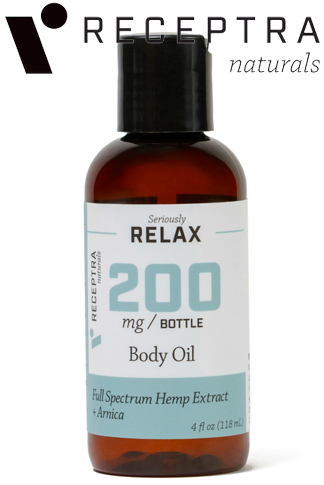 Seriously Relax + Arnica Body Oil-200mg (4oz)