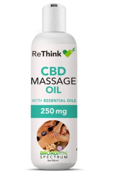 undefined - ReThink CBD Massage Oil – 250MG