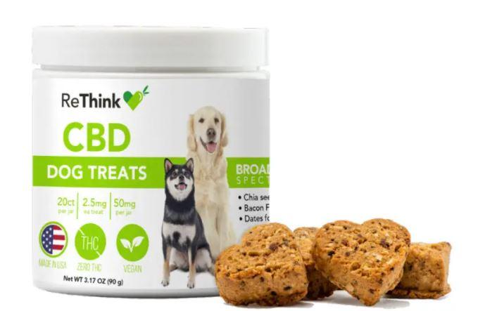 undefined - ReThink Hemp CBD Dog Treats – 50mg   20ct