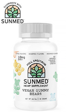 Sunmed - Full Spectrum Vegan Gummy Bears - 30 Count 10mg (300mg)