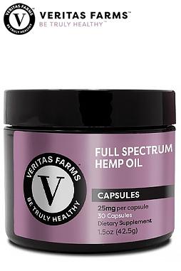 Veritas Farms - Full Spectrum CBD Capsules 25 mg