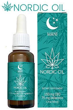 Nordic Oil - Mani Drops - CBD + Melatonin